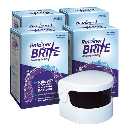 Retainer Brite Cleaning Tablets 1 Year Supply Free Cordless